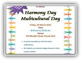 AIIC 2015 Harmony Day 20 MARCH