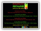 Sisters' House RAMADAN RECHARGE LECTURES